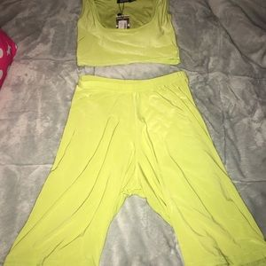 Lime green workout set